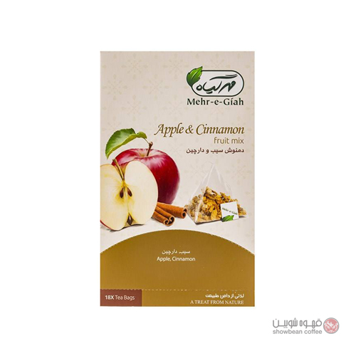 دمنوش کیسه ای مهر گیاه طعم سیب دارچین