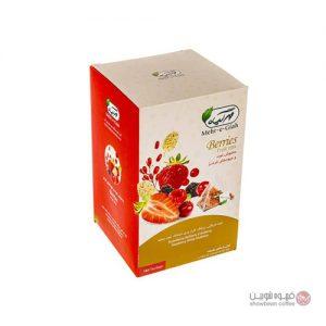 دمنوش کیسه ای مهر گیاه توت و میوه های قرمز