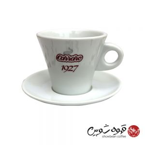 فنجان قهوه کررو سفید دوجداره 220 بزرگ