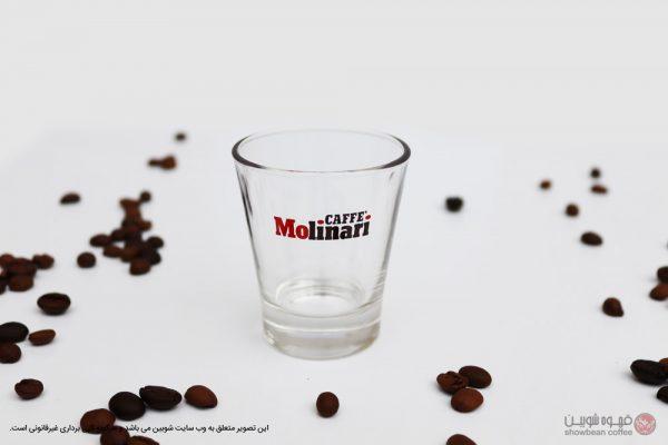 لیوان شیشه ای اسپرسو طرح مولیناری